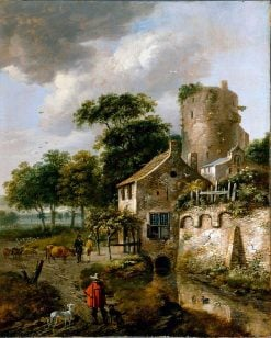 Landscape with a Tower | Roelof van Vries | Oil Painting