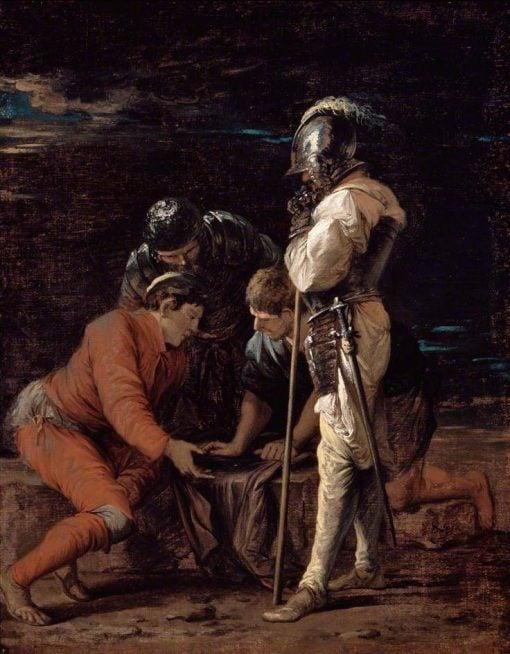 Soldiers Gambling   Salvator Rosa   Oil Painting