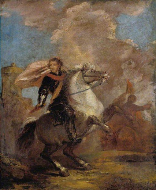 An Officer on Horseback | Sir Joshua Reynolds | Oil Painting