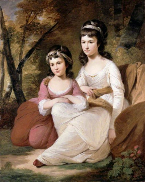 Eliza and Mary Davidson   Tilly Kettle   Oil Painting