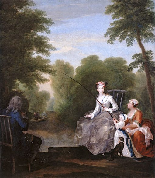 A Fishing Party   William Hogarth   Oil Painting