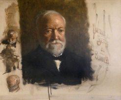 Andrew Carnegie (1835-1918) (sketch) | Bernard Blommers | Oil Painting