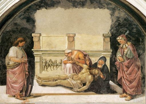 Lamentation over the Dead Christ with Saints Faustinus and Parentius | Luca Signorelli | Oil Painting