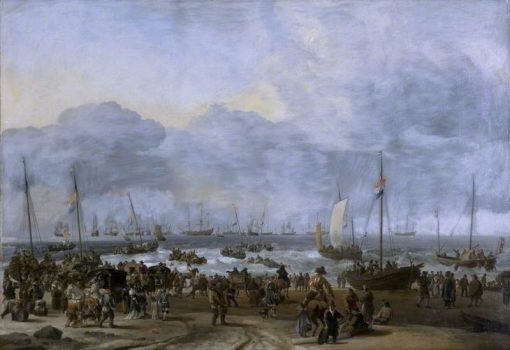 An Embarkation Scene | Hendrick Jacobsz. Dubbels | Oil Painting