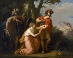 Armida in Vain Endeavours with Her Entreaties to Prevent Rinaldo's Departure | Angelica Kauffmann | Oil Painting
