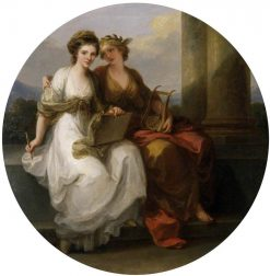 The Artist in the Character of Design Listening to the Inspiration of Poetry | Angelica Kauffmann | Oil Painting