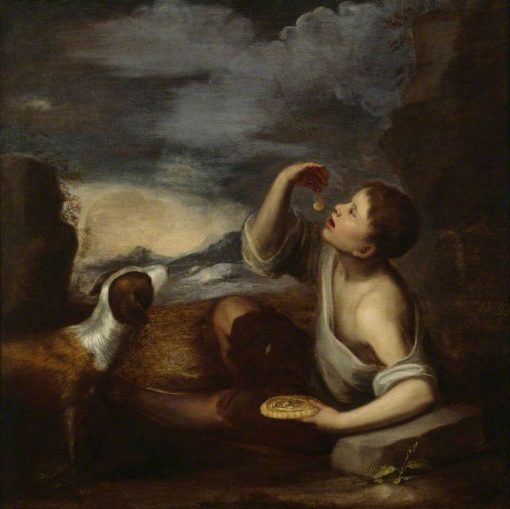 A Spanish Boy with a Dog | BartolomE Esteban Murillo | Oil Painting