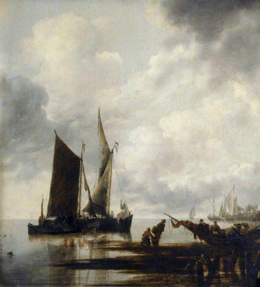 Boats in Shallow Water | Jan van de Cappelle | Oil Painting