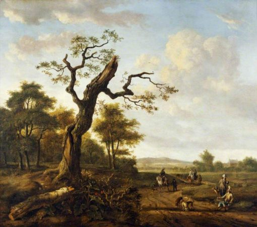 Landscape with a Hawking Party | Jan Wijnants | Oil Painting