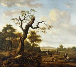 Landscape with a Hawking Party | Johannes Lingelbach | Oil Painting