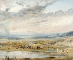Hampstead Heath with Pond and Bathers | John Constable | Oil Painting