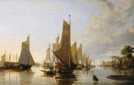 Yarmouth Water Frolic - Evening: Boats Assembling previous to Rowing Match | John Crome | Oil Painting