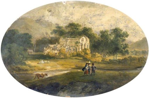 View of Valle Crucis | Julius Caesar Ibbetson | Oil Painting