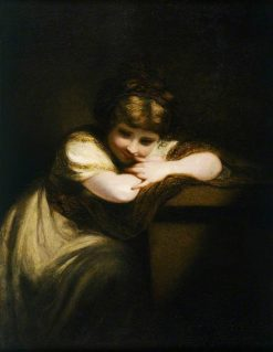 Girl Leaning on a Pedestal | Sir Joshua Reynolds | Oil Painting