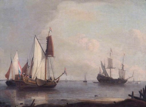 Dutch Shipping in a River | Abraham Jansz. Storck | Oil Painting