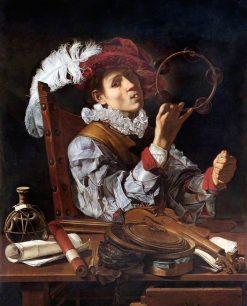 A Conjurer | Cecco del Caravaggio | Oil Painting