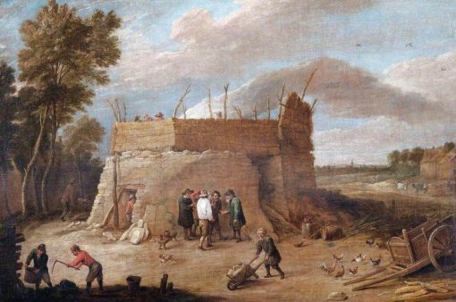 A Lime Kiln with Figures | David Teniers II | Oil Painting