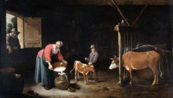 Interior of a Cowshed | David Teniers II | Oil Painting