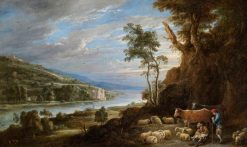 Landscape with Shepherds and a Distant View of a Castle | David Teniers II | Oil Painting