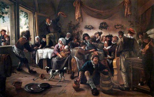 A Wedding Party | Jan Havicksz. Steen | Oil Painting