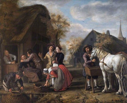 A Village Scene | Jan Victors | Oil Painting