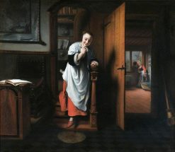 The Eavesdropper | Nicolaes Maes | Oil Painting