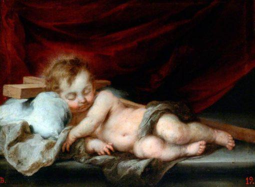 Christ Child on the Cross | BartolomE Esteban Murillo | Oil Painting