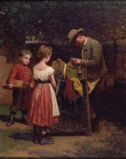 The Scissors Grinder | Eastman Johnson | Oil Painting