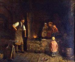 The Blacksmith Shop | Eastman Johnson | Oil Painting
