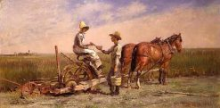 Haying | Theodore Robinson | Oil Painting