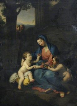 Virgin and Child with Saint John the Baptist | Benjamin West | Oil Painting