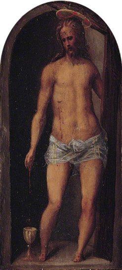 Christ (centre panel of triptych)   Domenico Beccafumi   Oil Painting