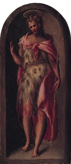 Saint John the Baptist (right wing of triptych) | Domenico Beccafumi | Oil Painting