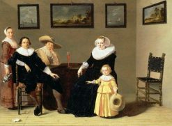 Dutch Family in an Interior | Jan Olis | Oil Painting