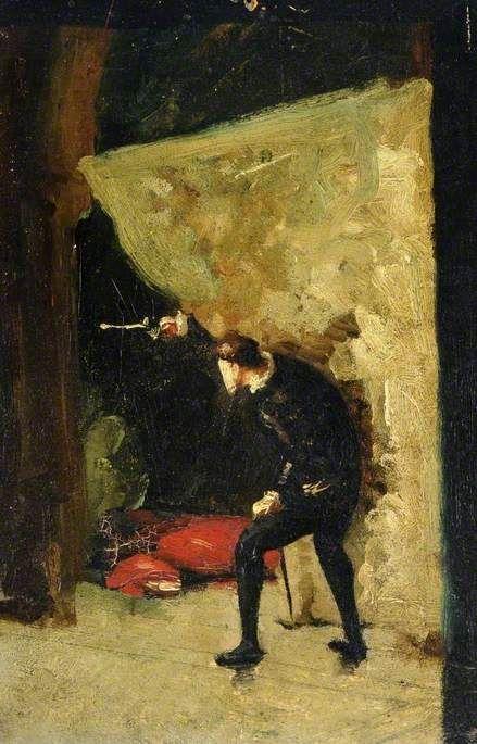 The Death of Polonius   Jean Louis Ernest Meissonier   Oil Painting