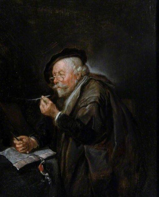 Old Man Writing | Quiringh van Brekelenkam | Oil Painting