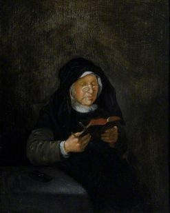 Old Woman Reading | Quiringh van Brekelenkam | Oil Painting
