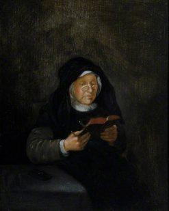 Old Woman Reading | Quiringh van Brekelenkam | Oil Painting