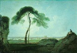 Italian Landscape with a Stone Pine | Richard Wilson
