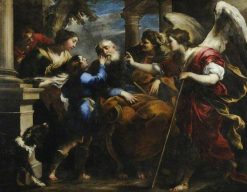 Tobias Healing the Blind Tobit | Valerio Castello | Oil Painting
