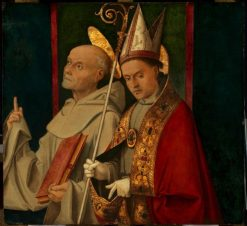 Saint Bernardino and a Holy Bishop | Bartolomeo Montagna | Oil Painting