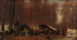 A Different Sugaring Off | Eastman Johnson | Oil Painting