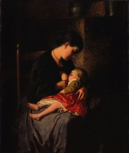 The Mother | Eastman Johnson | Oil Painting