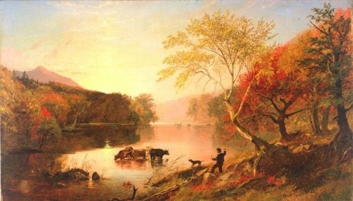 Autumn on the Hudson | Jasper Francis Cropsey | Oil Painting