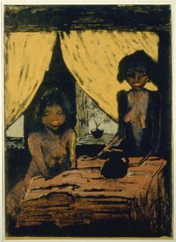 Two Gypsies in a Room | Otto Mueller | Oil Painting