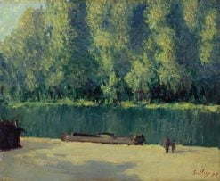 Banks of the Loing   Alfred Sisley   Oil Painting
