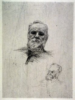 Victor Hugo (Front View) | Auguste Rodin | Oil Painting