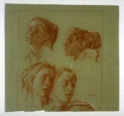 Four Studies of a Fishergirl of Equihen | Augustus John | Oil Painting