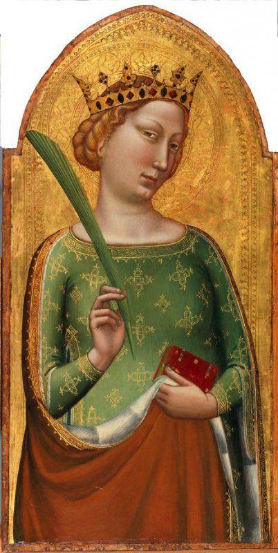 A Crowned Virgin Martyr (St. Catherine of Alexandria) | Bernardo Daddi | Oil Painting