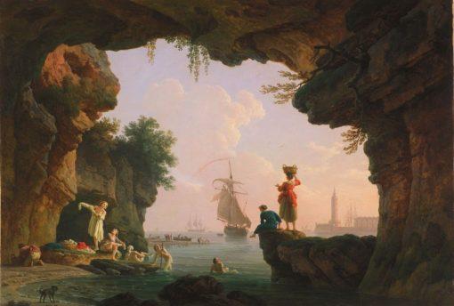 Les Baigneuses (The Bathers)   Claude Joseph Vernet   Oil Painting